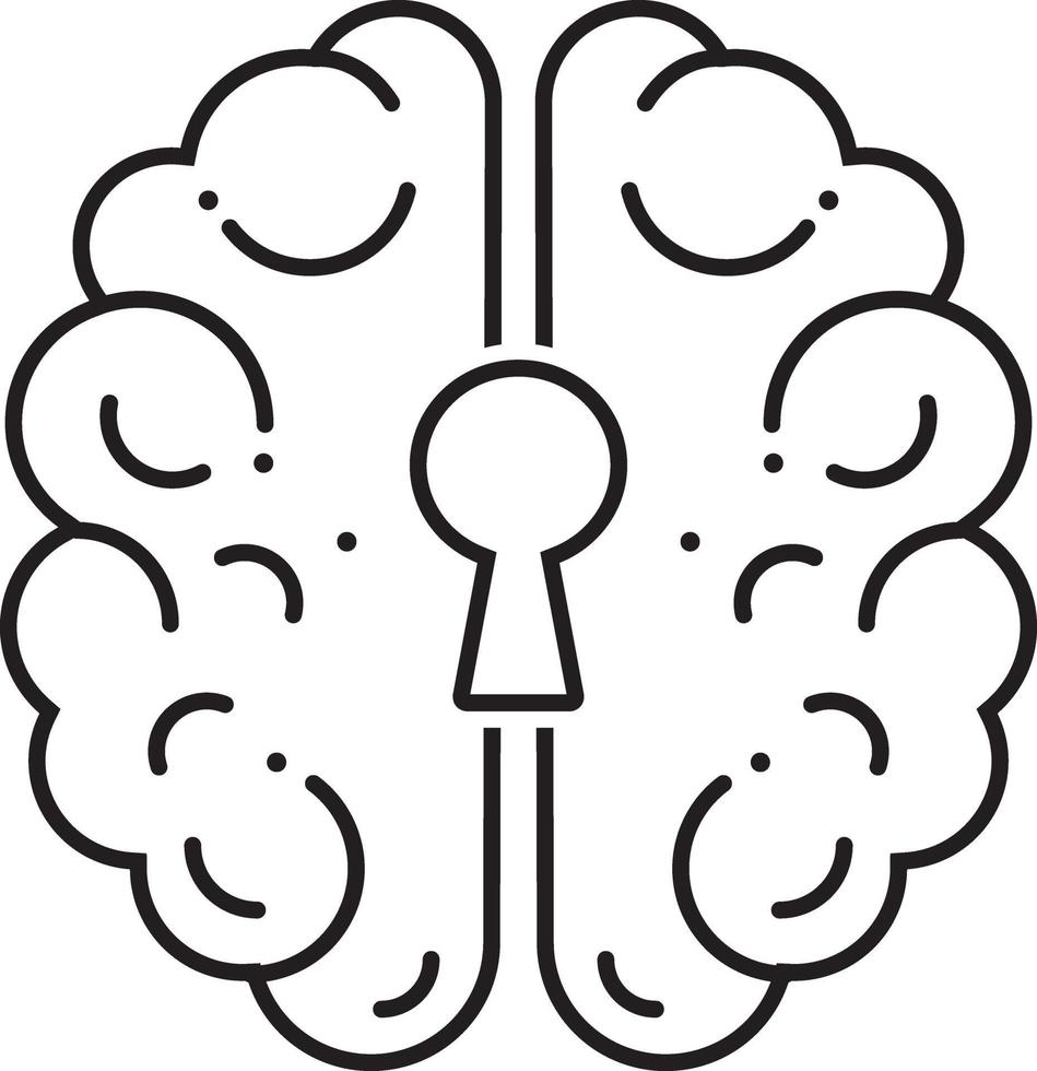 linjeikon för psykiatri vektor