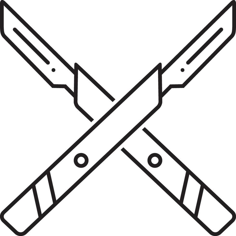 linje ikon för operation kniv vektor