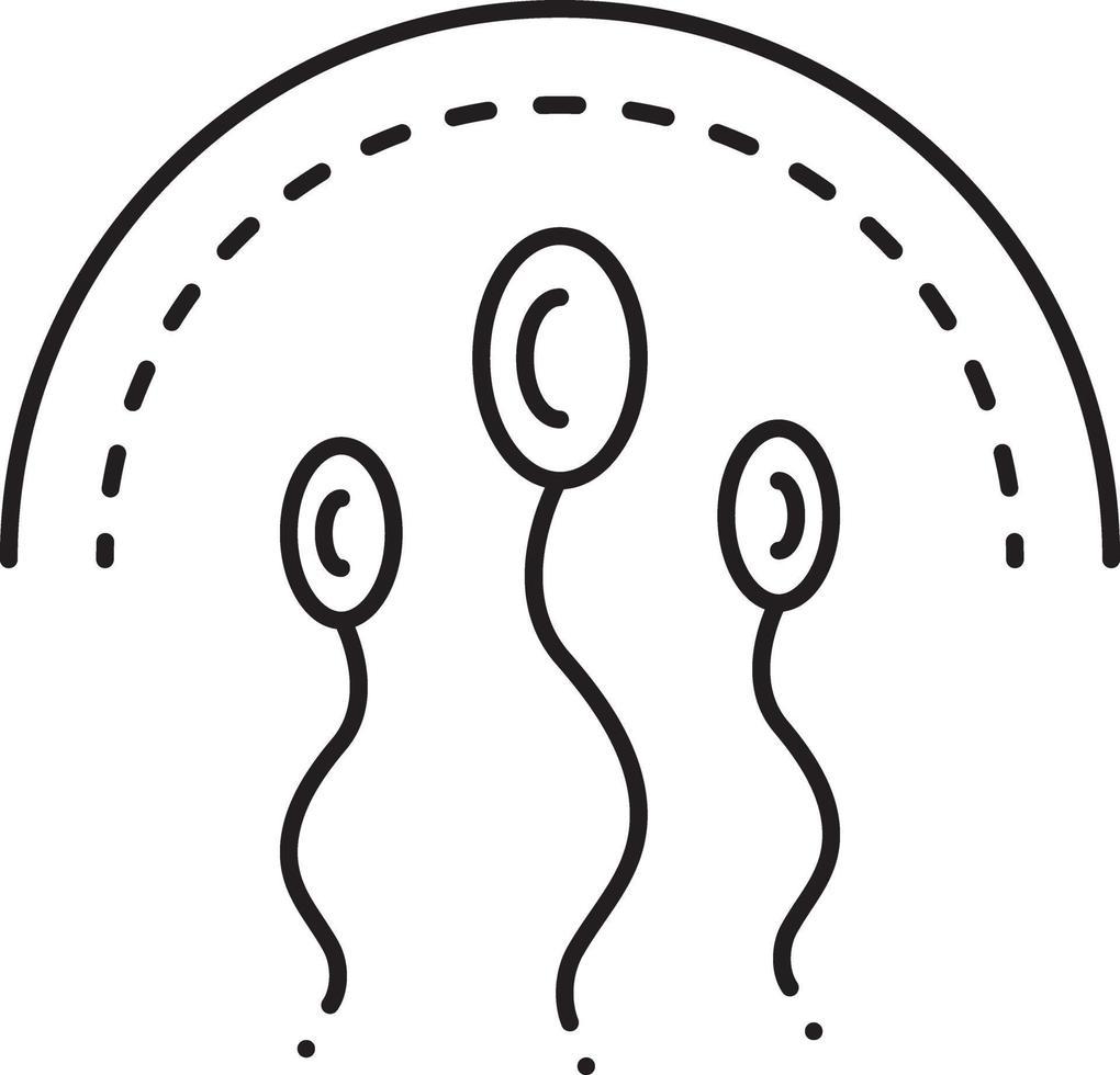linje ikon för spermier vektor