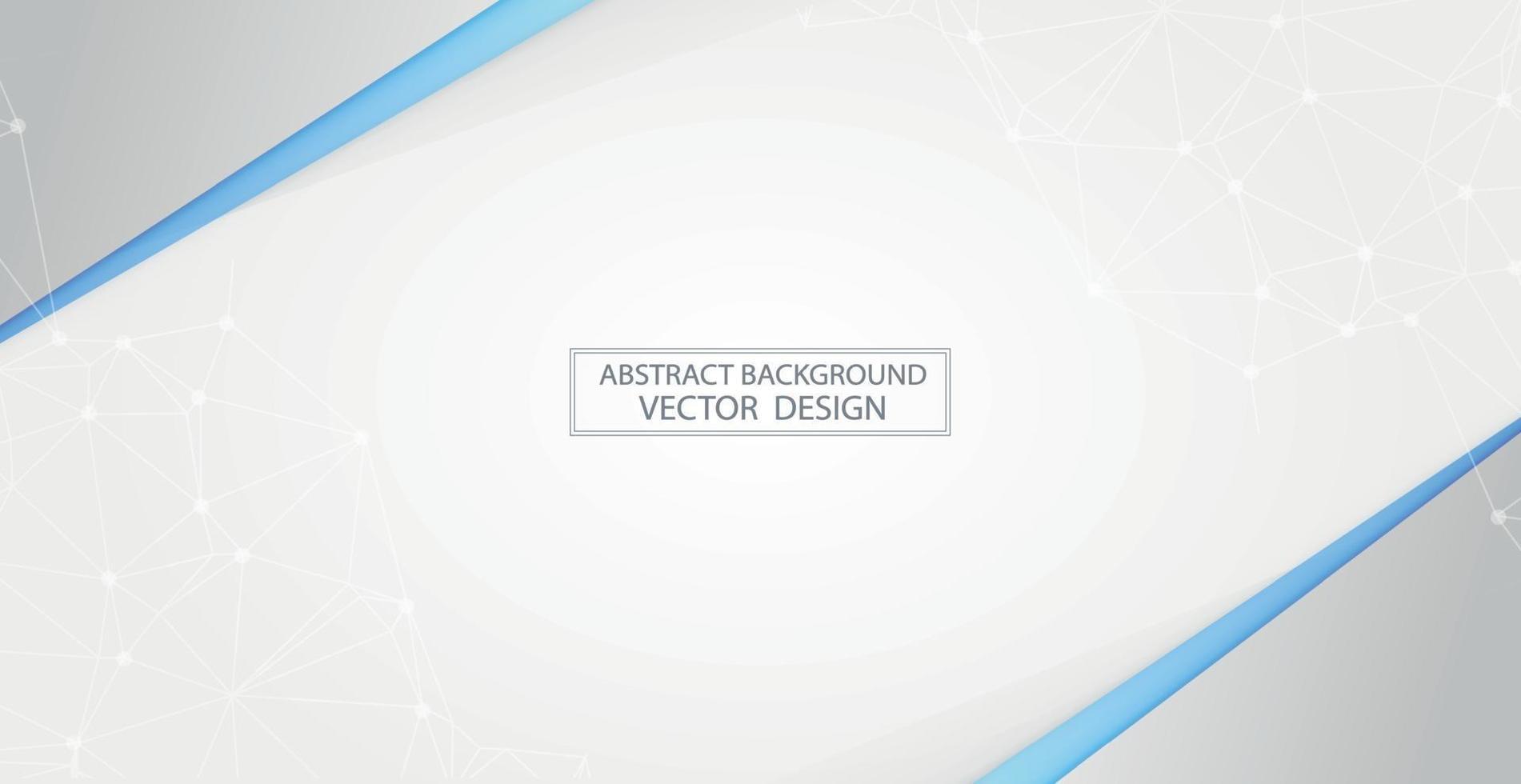 abstrakter weißer Hintergrund mit silbernen Akzenten - Vektor