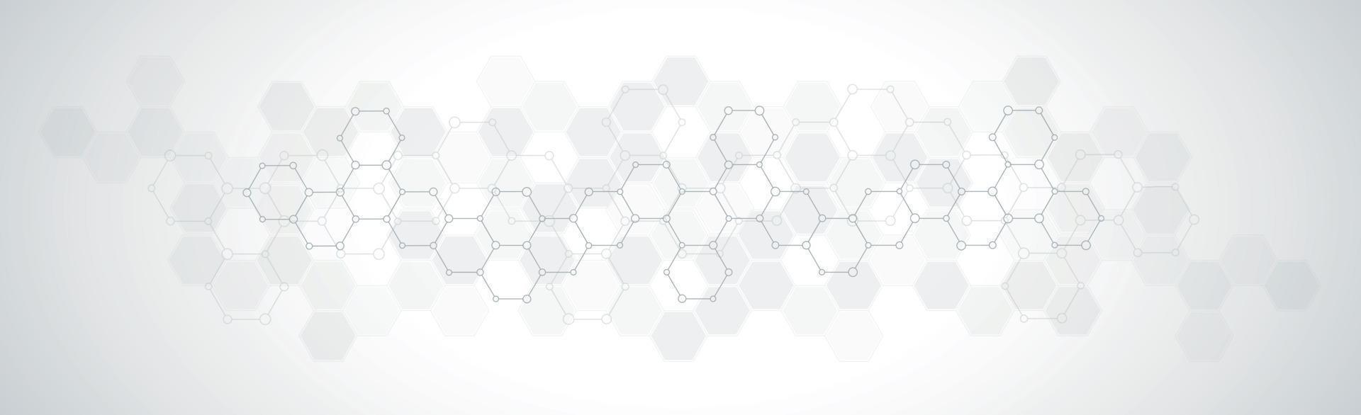 hexagoner på grå vit bakgrund - vektorillustration vektor