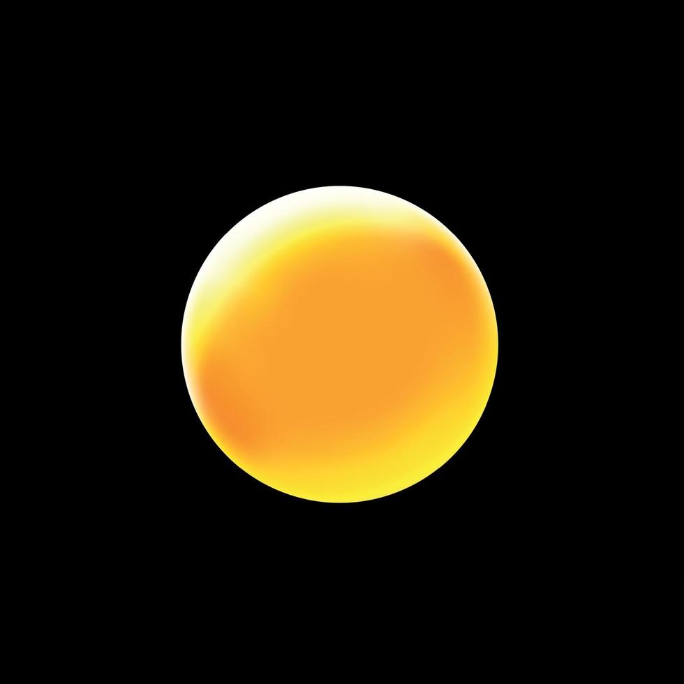 ljus sol på en svart bakgrund - illustration vektor