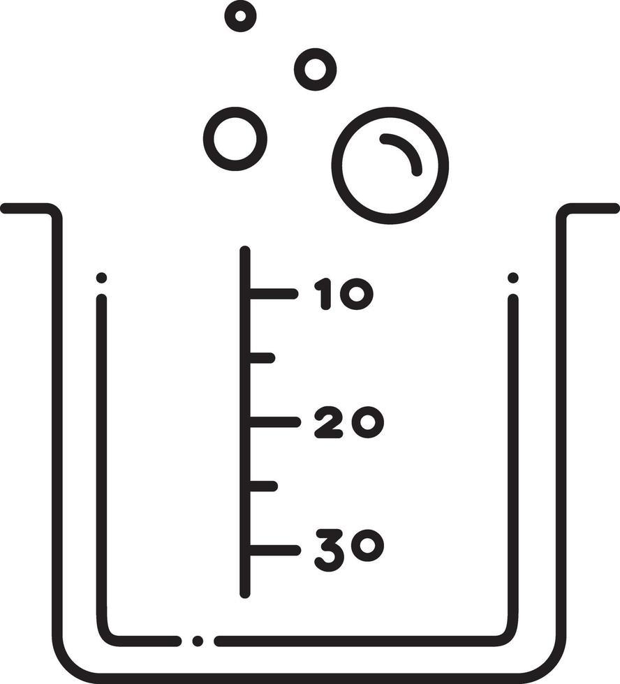 linje ikon för lab braker vektor