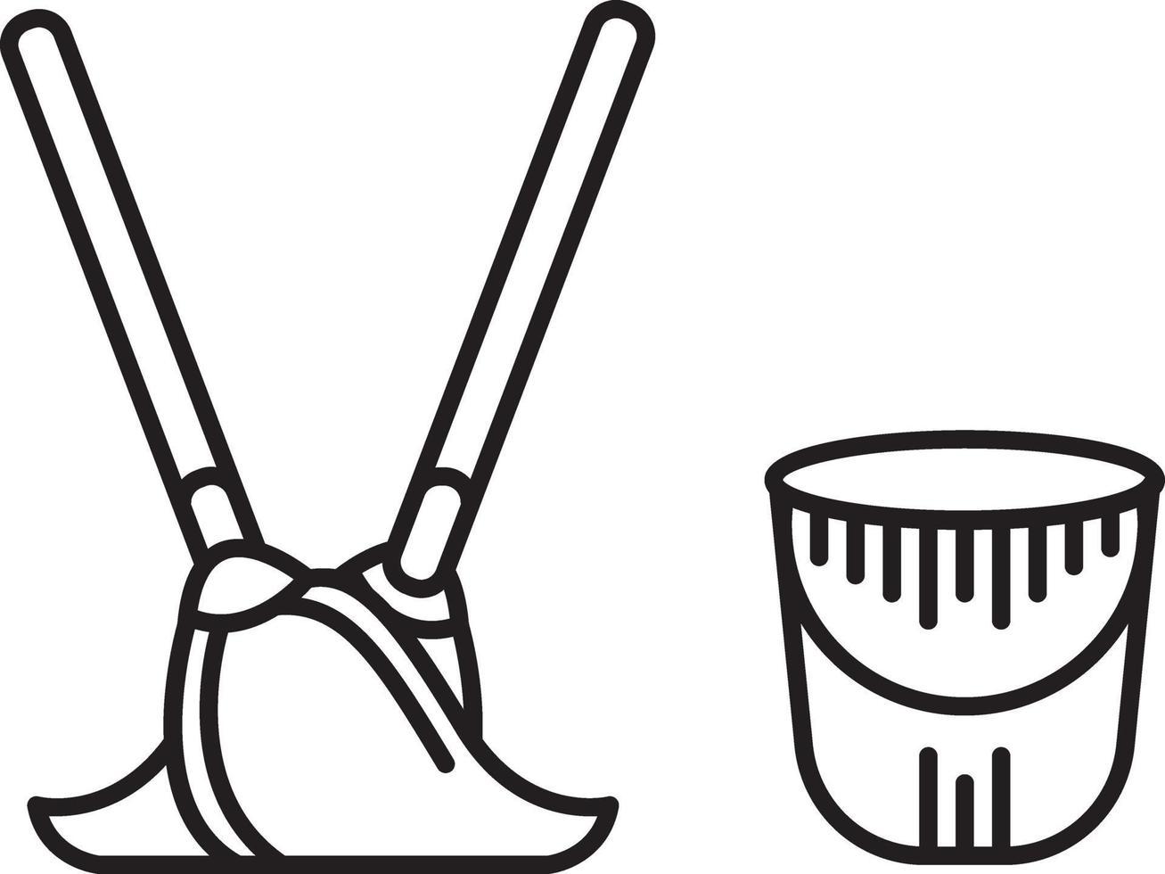 linje ikon för sanitära vektor