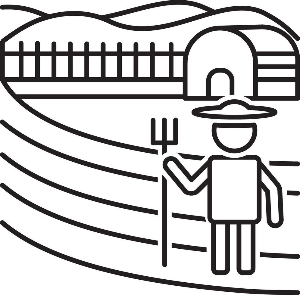 linje ikon för jordbruk vektor