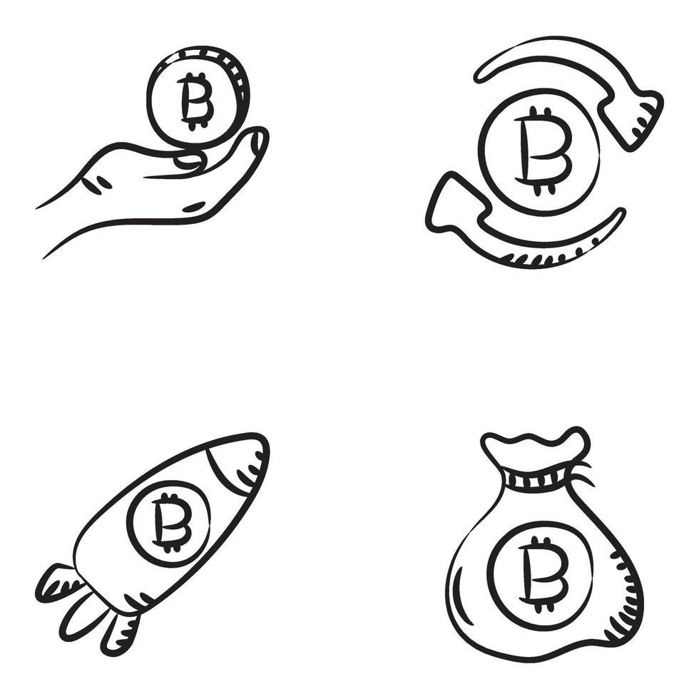 kryptovaluta och affärer vektor
