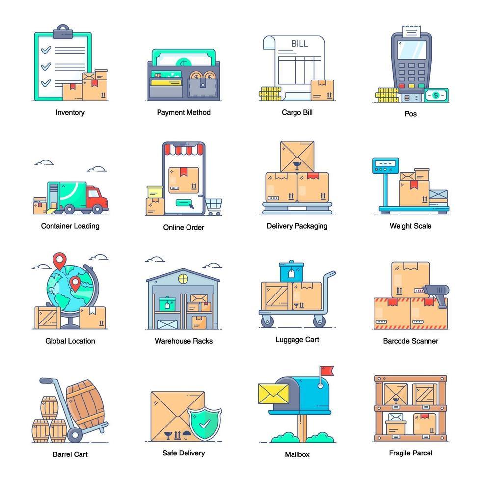 leverans- och logistiktjänster vektor