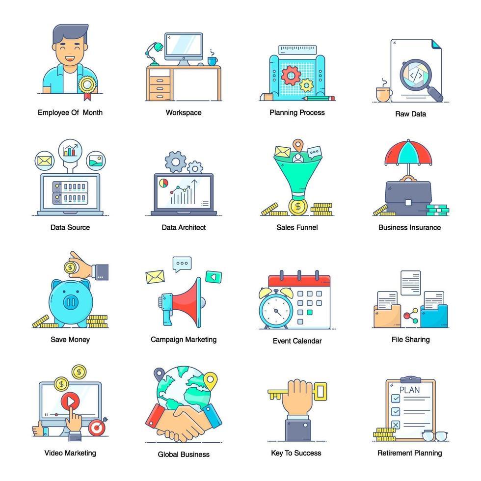 företag och ledning vektor