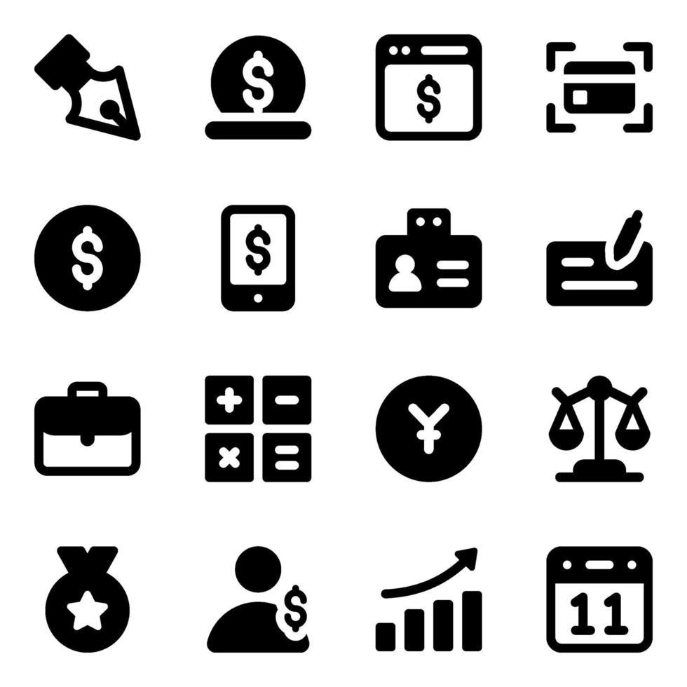 affärs- och finanselement vektor