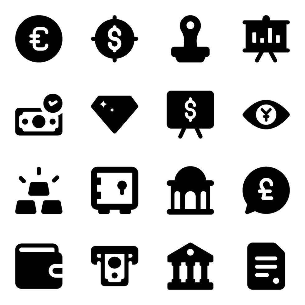 finans- och marknadsföringselement vektor