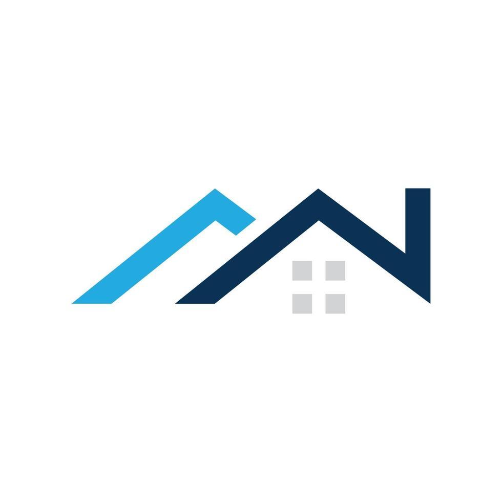 fastighetslogotypdesign, företagsskylt. logotyp vektor