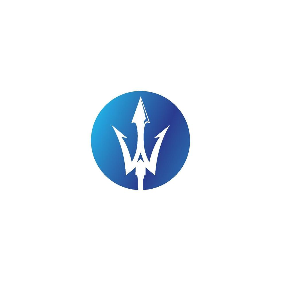 magiska trident logotyp vektor