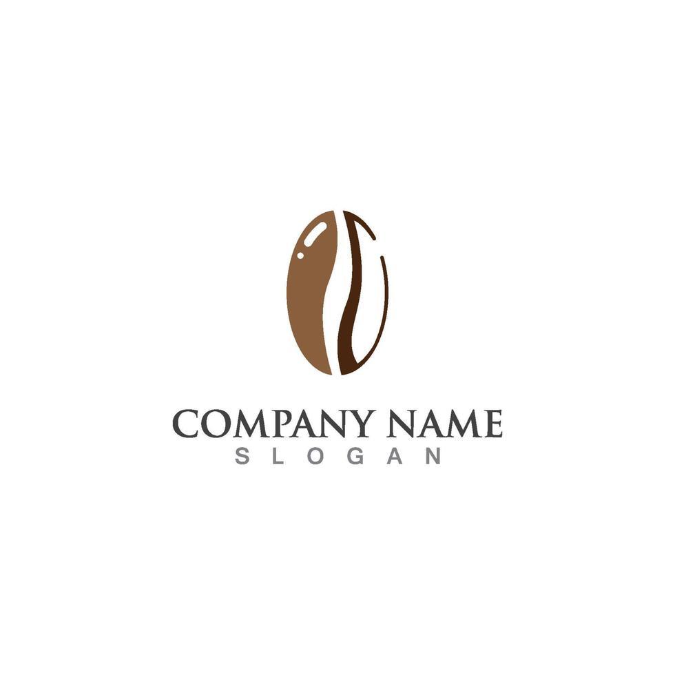 kaffe logotyp mall vektor ikon design