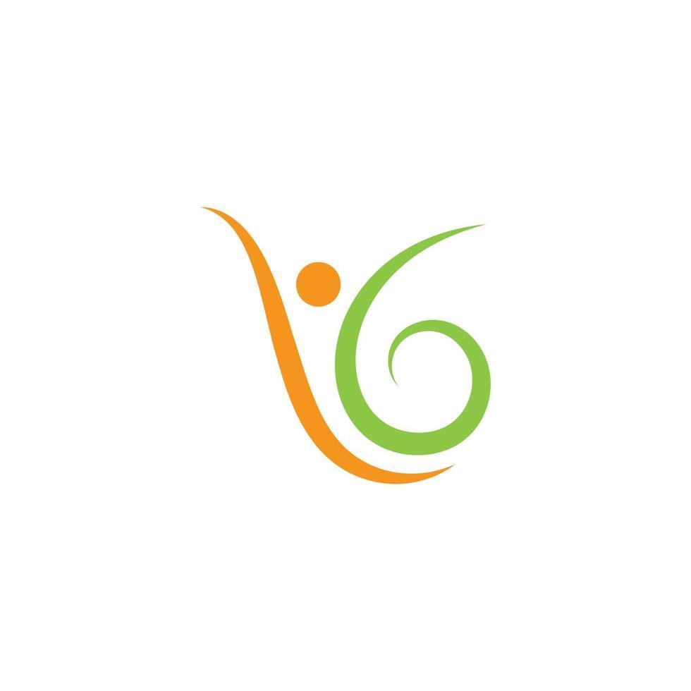 människor hälsosamt liv logotyp mall vektor ikon