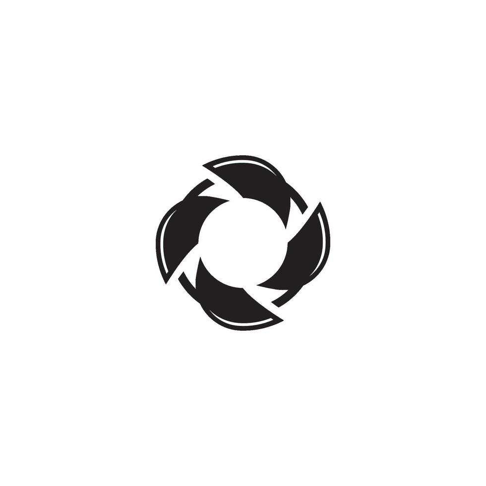 cirkel logotyp symbol vektor mall