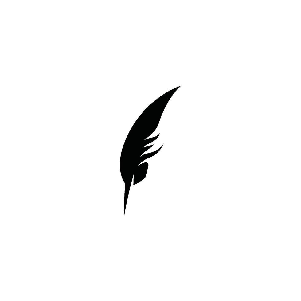 fjäder logotyp mall vektor ikon design