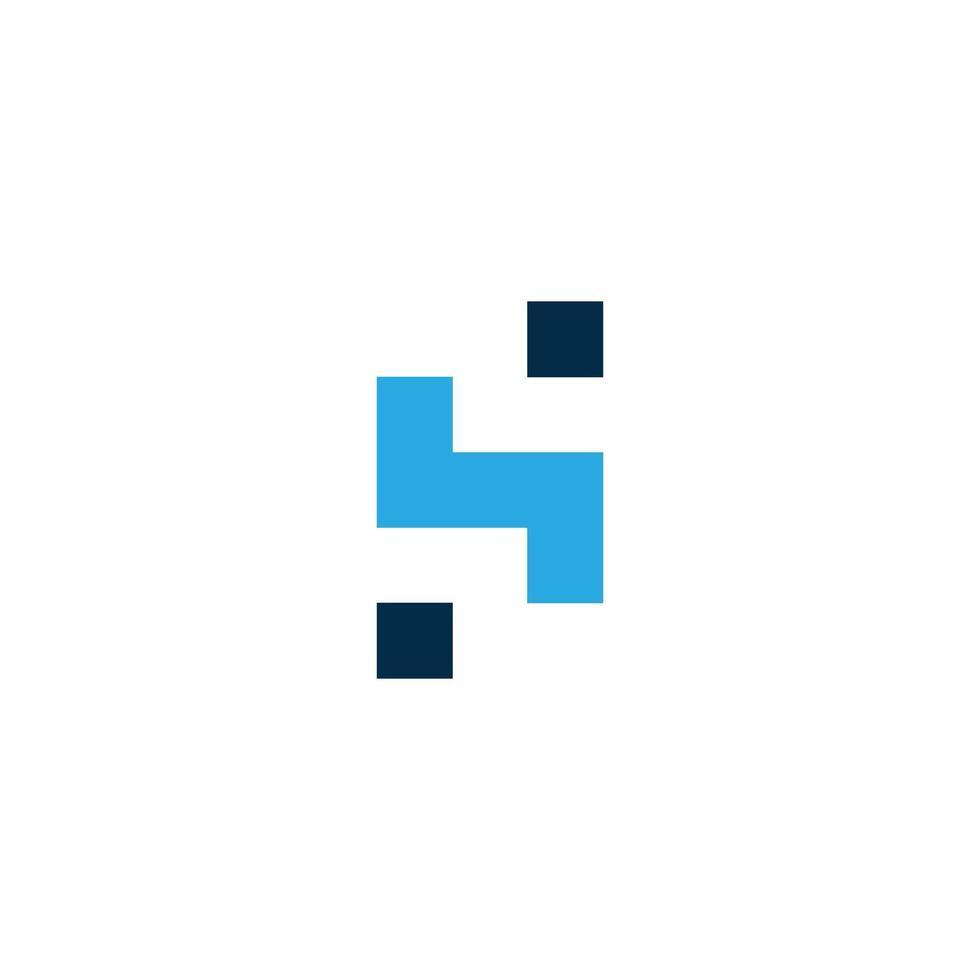 hs brevlogotyp mall design vektorillustration vektor