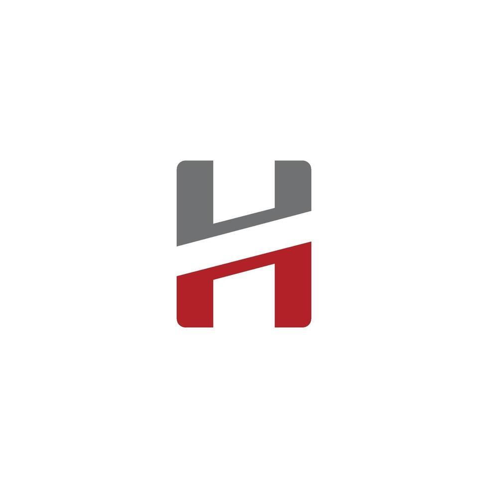 h brev logotyp mall design vektorillustration vektor
