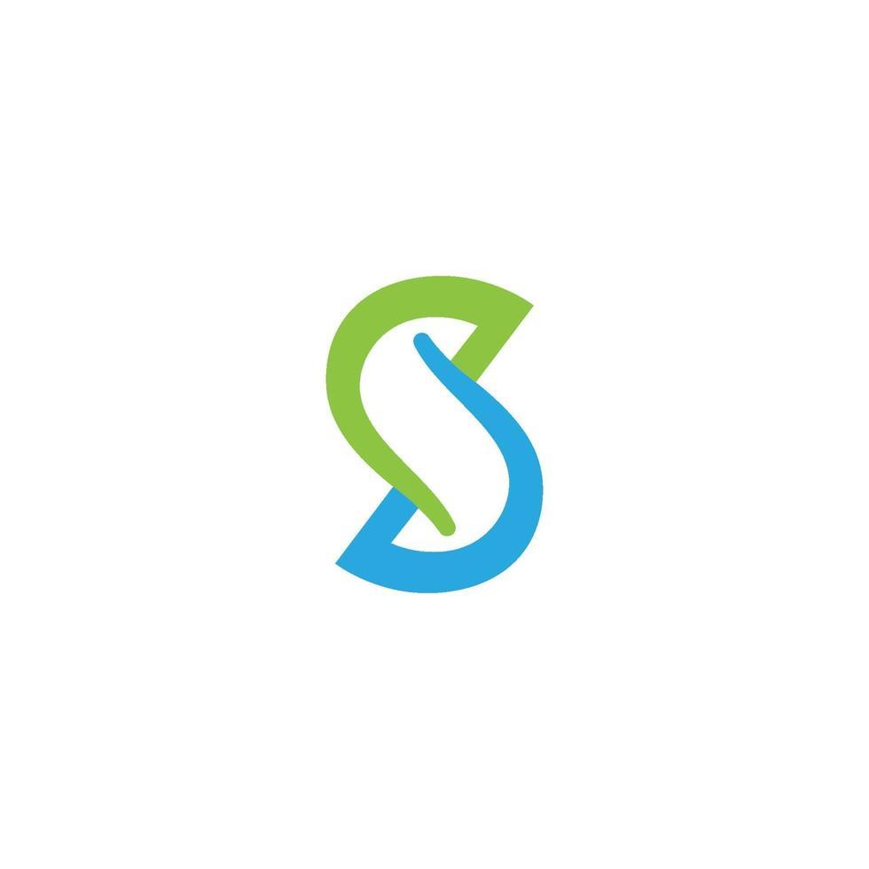 s Brief Logo, Volumen Symbol Design Vorlage Element vektor