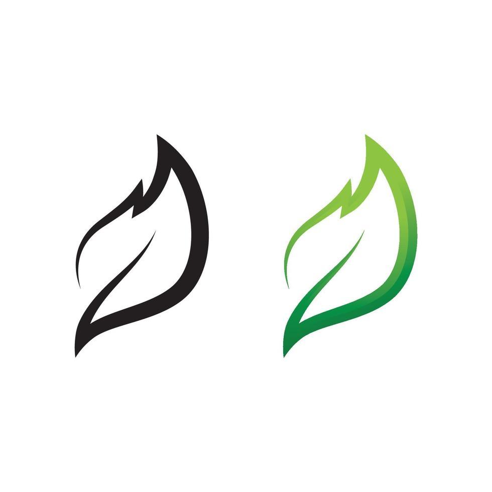 ekologi ikon grönt blad vektor illustration design