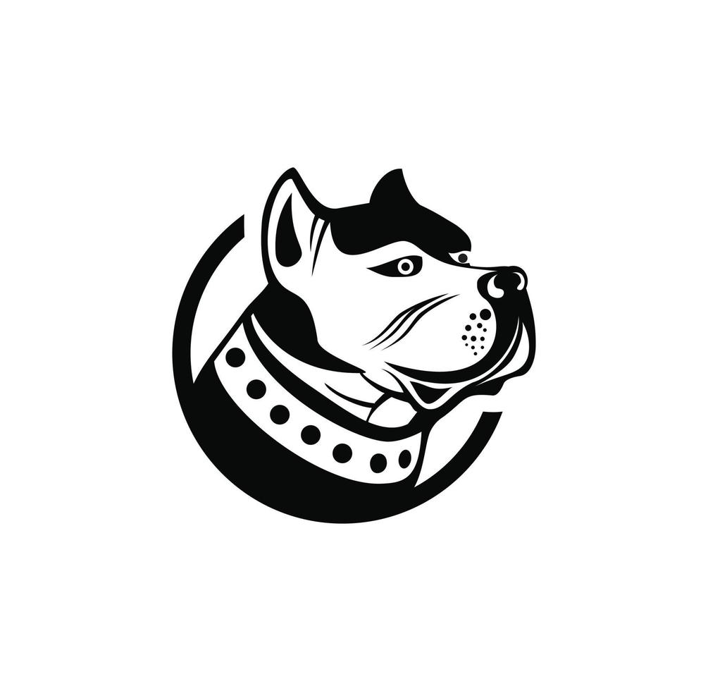 pitbull hundhuvuddesignillustration vektor