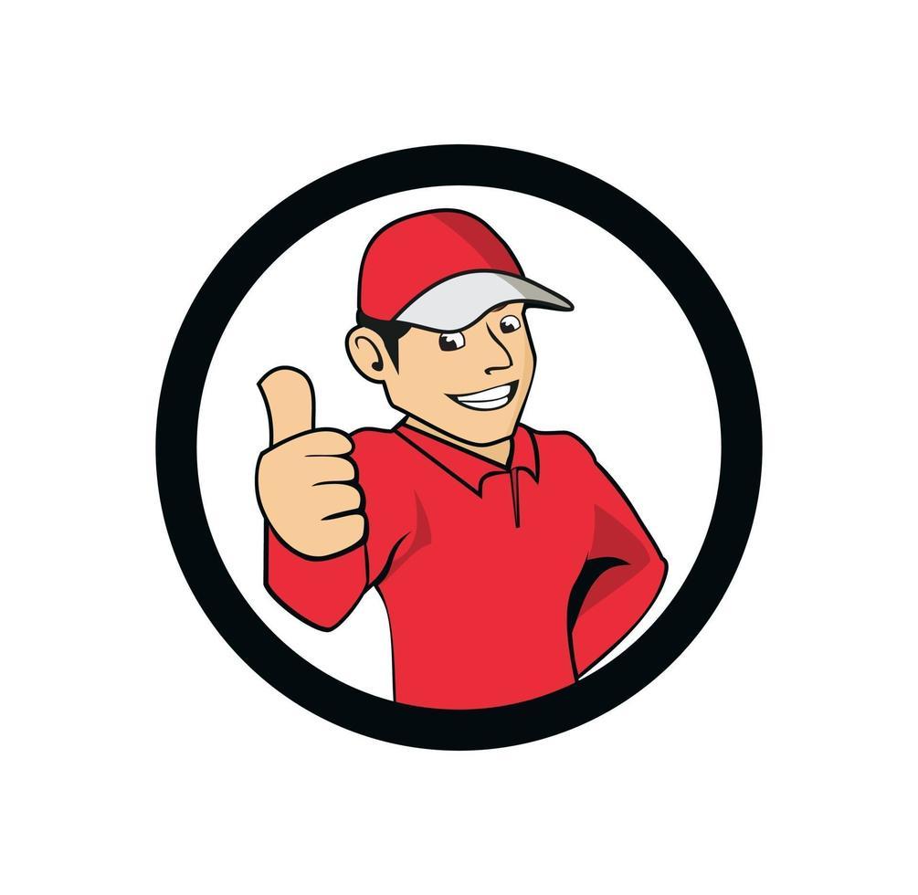 tecknad karaktär bra pojke leverans illustration vektor