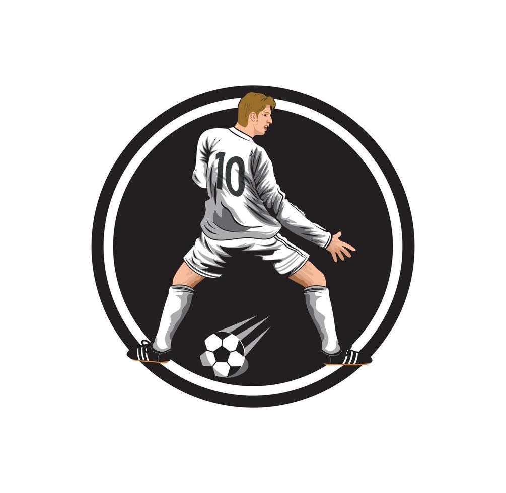tecknad fotbollsspelare karaktär illustration vektor