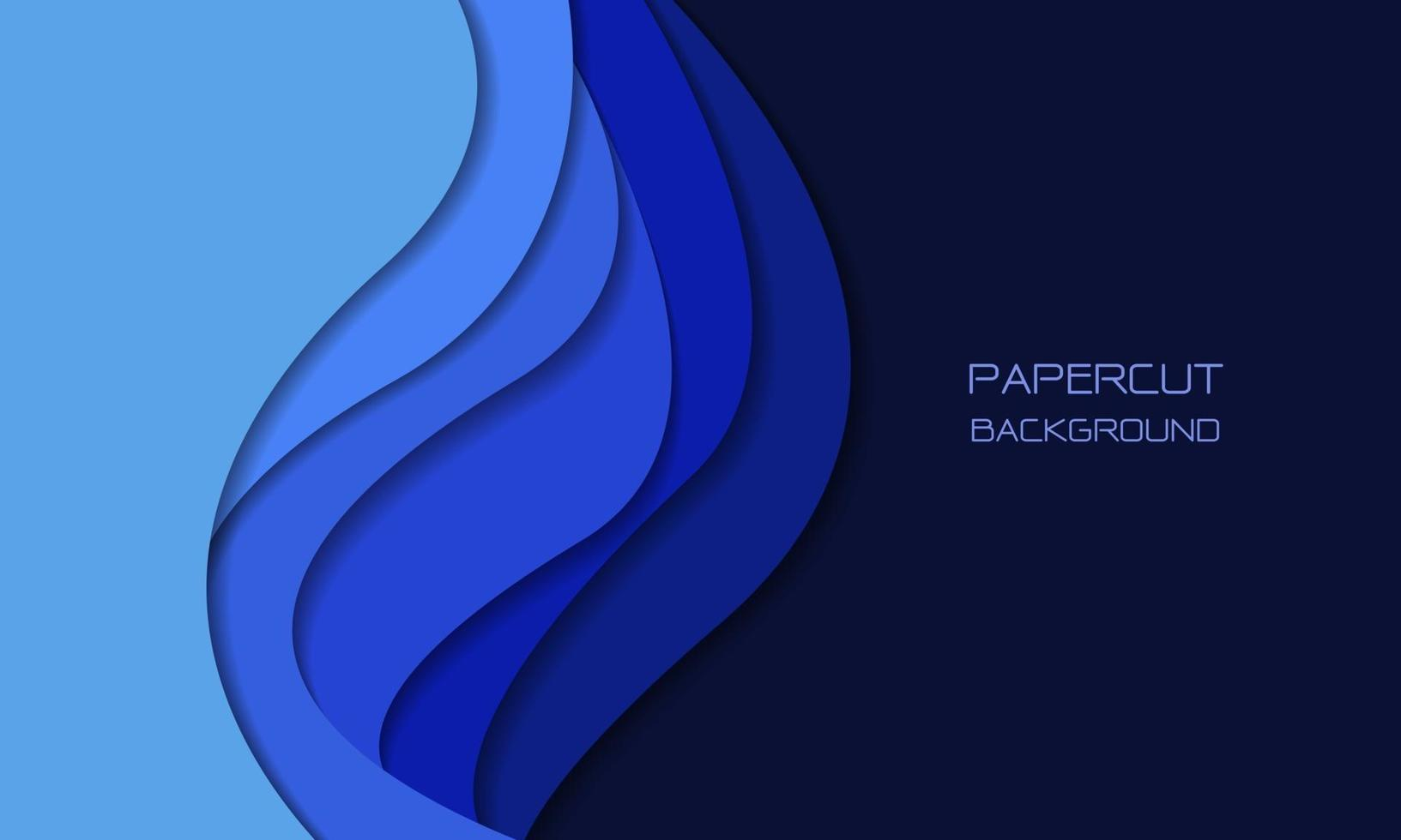 abstrakt blå ton pappersskuren 3d lager överlappar konst med tomt utrymme design modern futuristisk bakgrundsstruktur vektorillustration. vektor