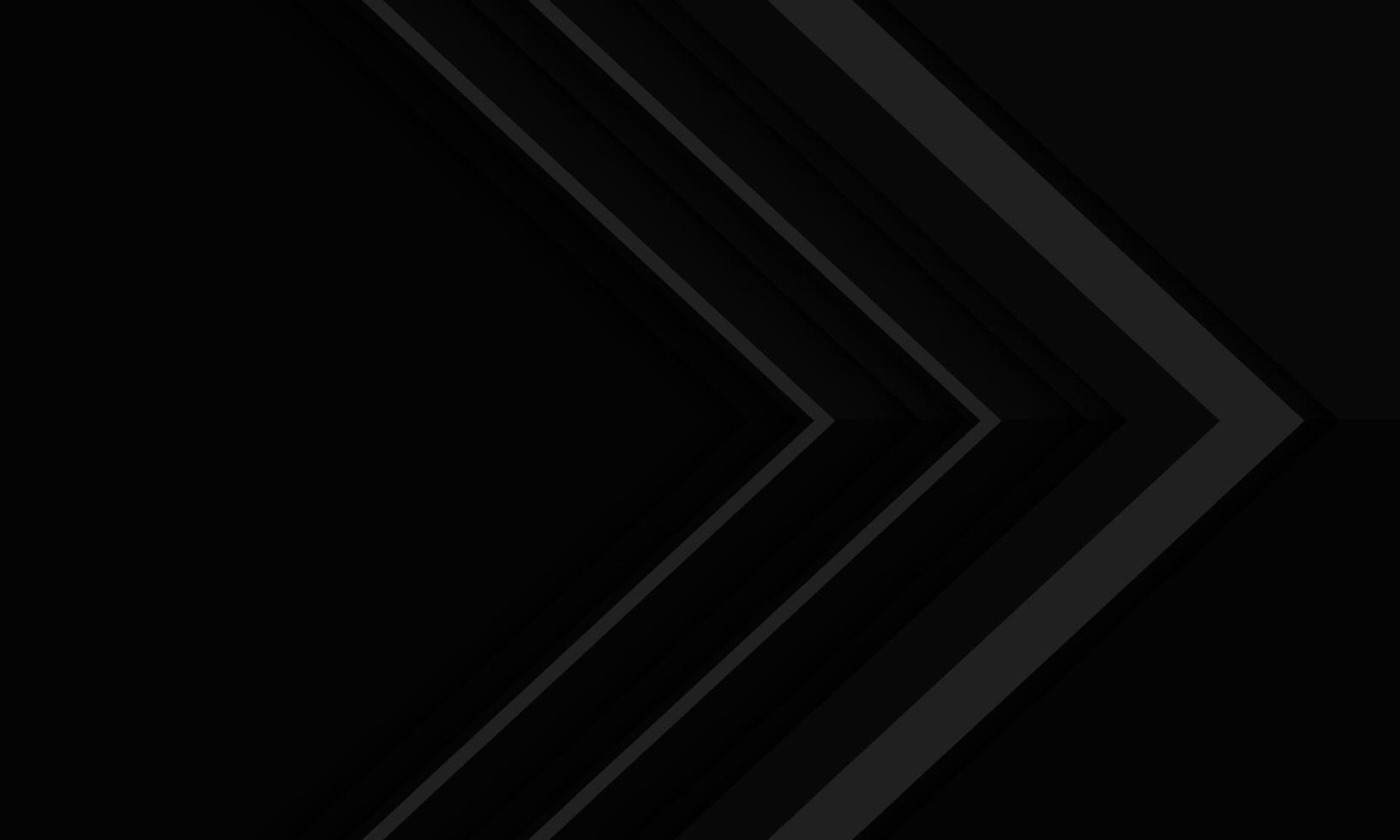 abstrakt grå pilriktning på svart metallisk skugga med tomrumsdesign modern futuristisk bakgrundsvektorillustration. vektor