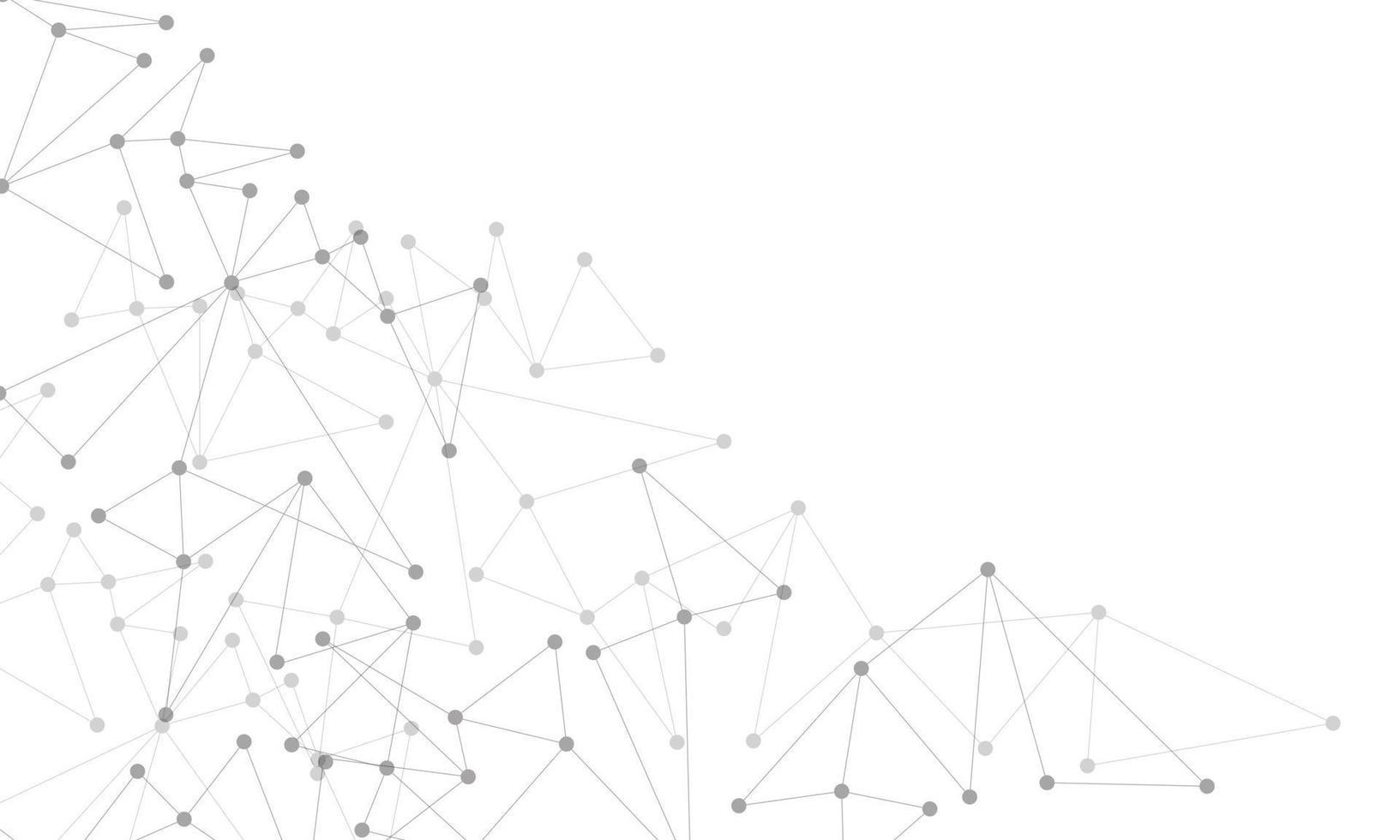 abstrakt grå linje prick ansluter nätverk geometriskt på vitt med tom rymdteknik futuristisk bakgrund vektorillustration. vektor