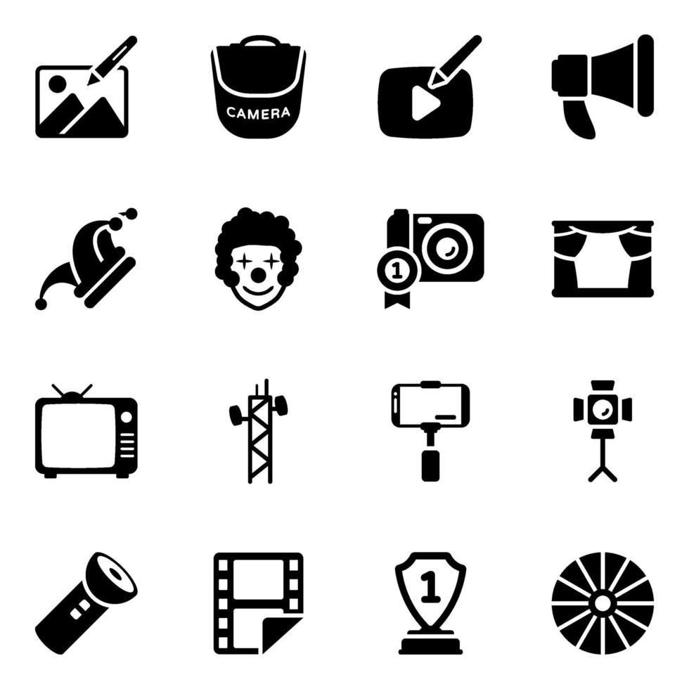 film och multimedia vektor