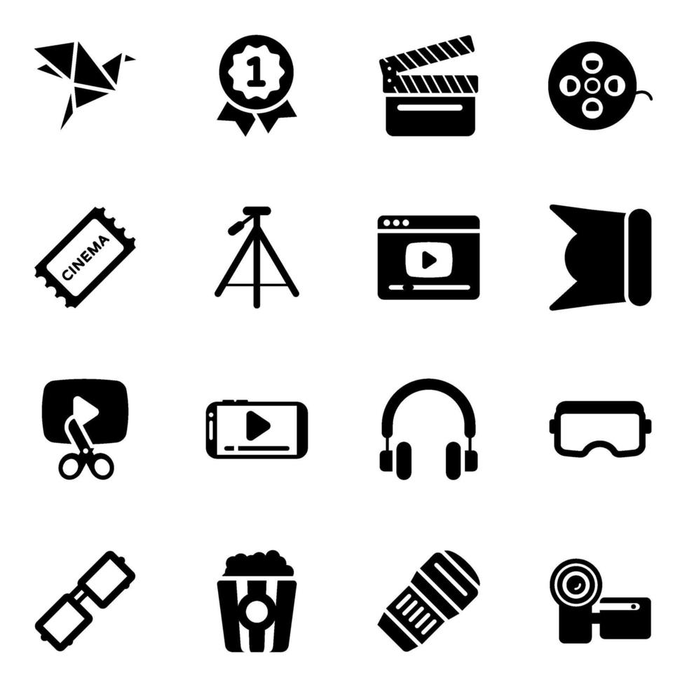 multimedia och film vektor