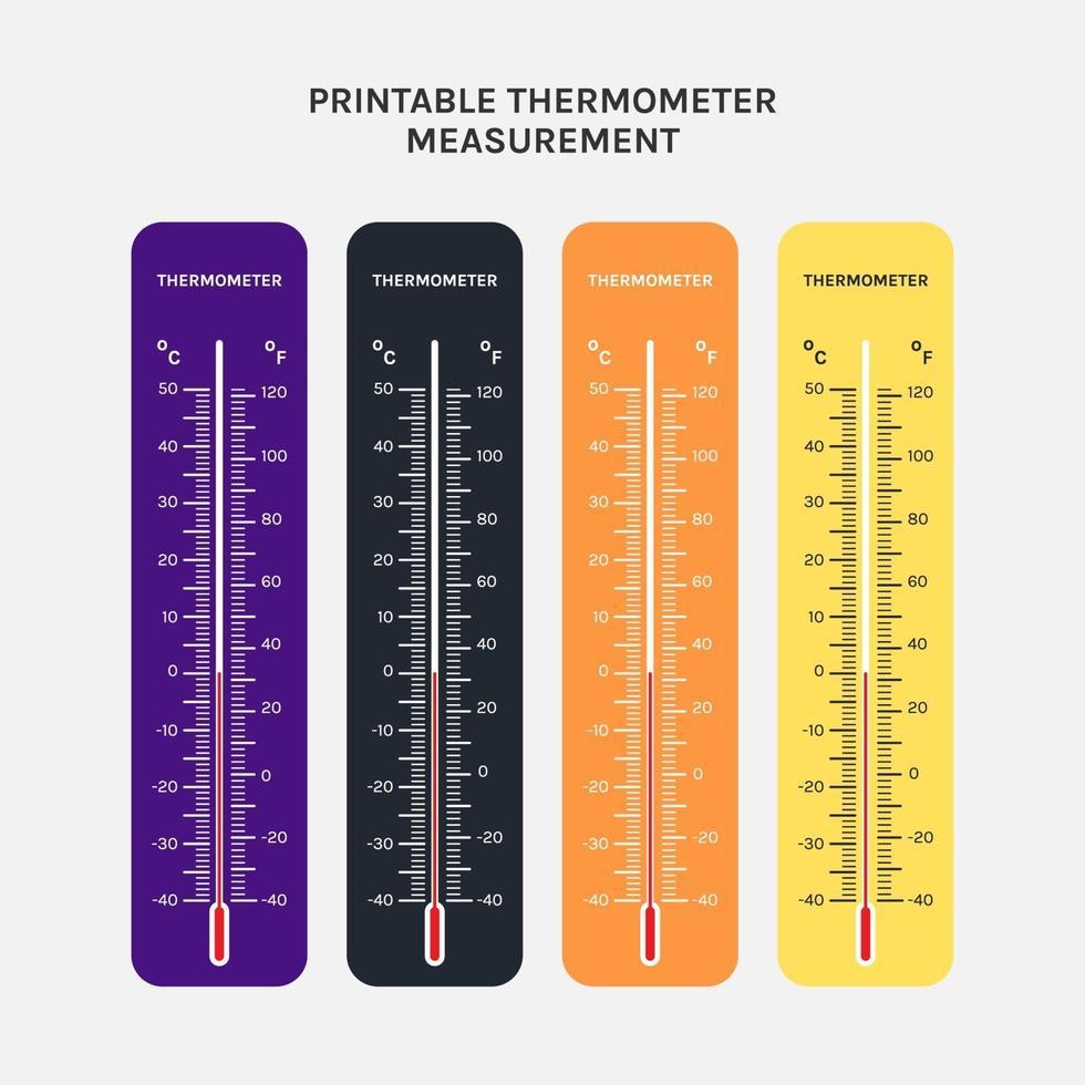 kan skrivas ut av termometeranvändning för mätning av lufttemperatur, kropp och andra mätningsändamål vektor