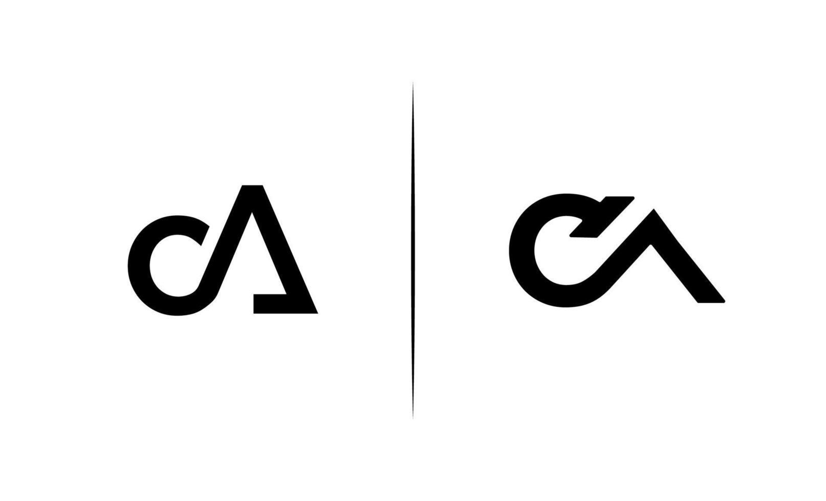initial ca, c, en logotypmallvektor vektor