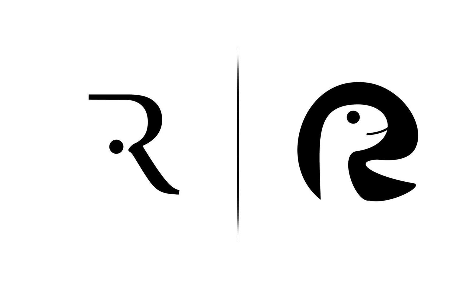 bokstaven r elegant logotyp design vektor