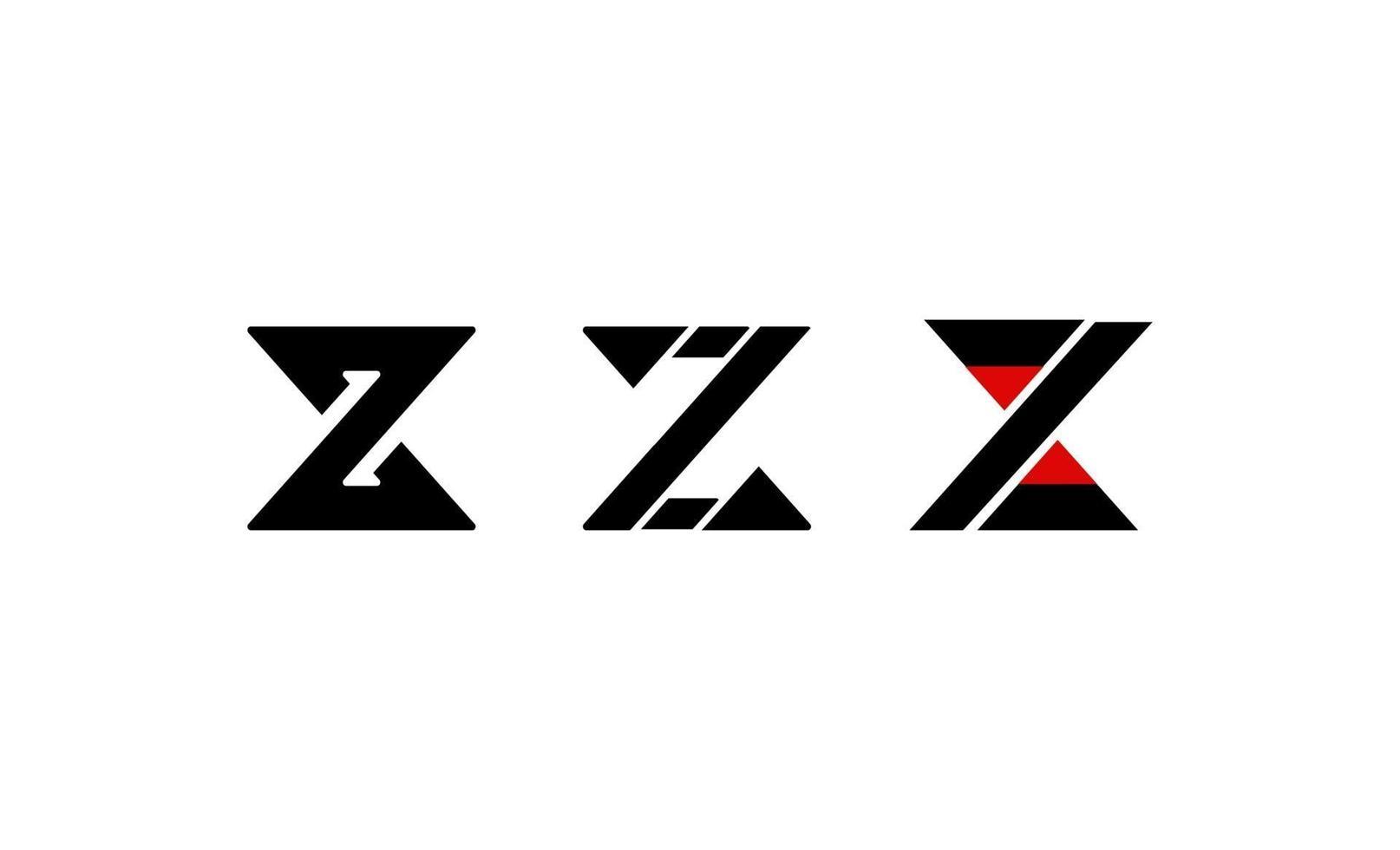 brev initial z monogram logo design vektor