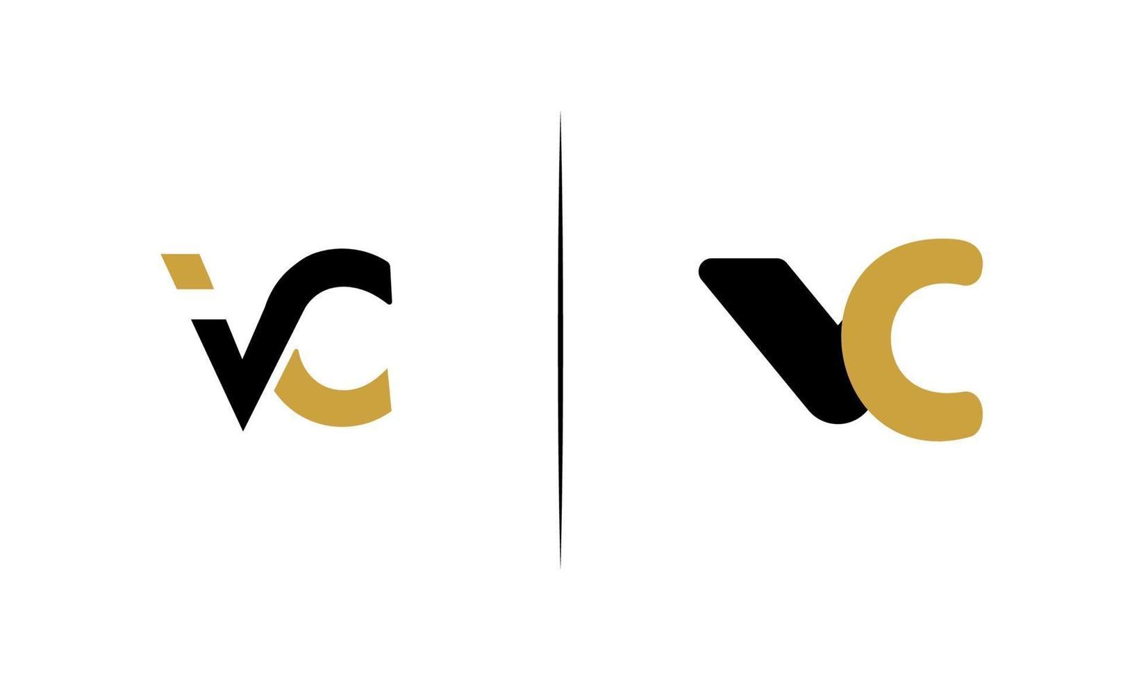 anfänglicher vc Luxus eleganter Logo-Schablonenvektor vektor
