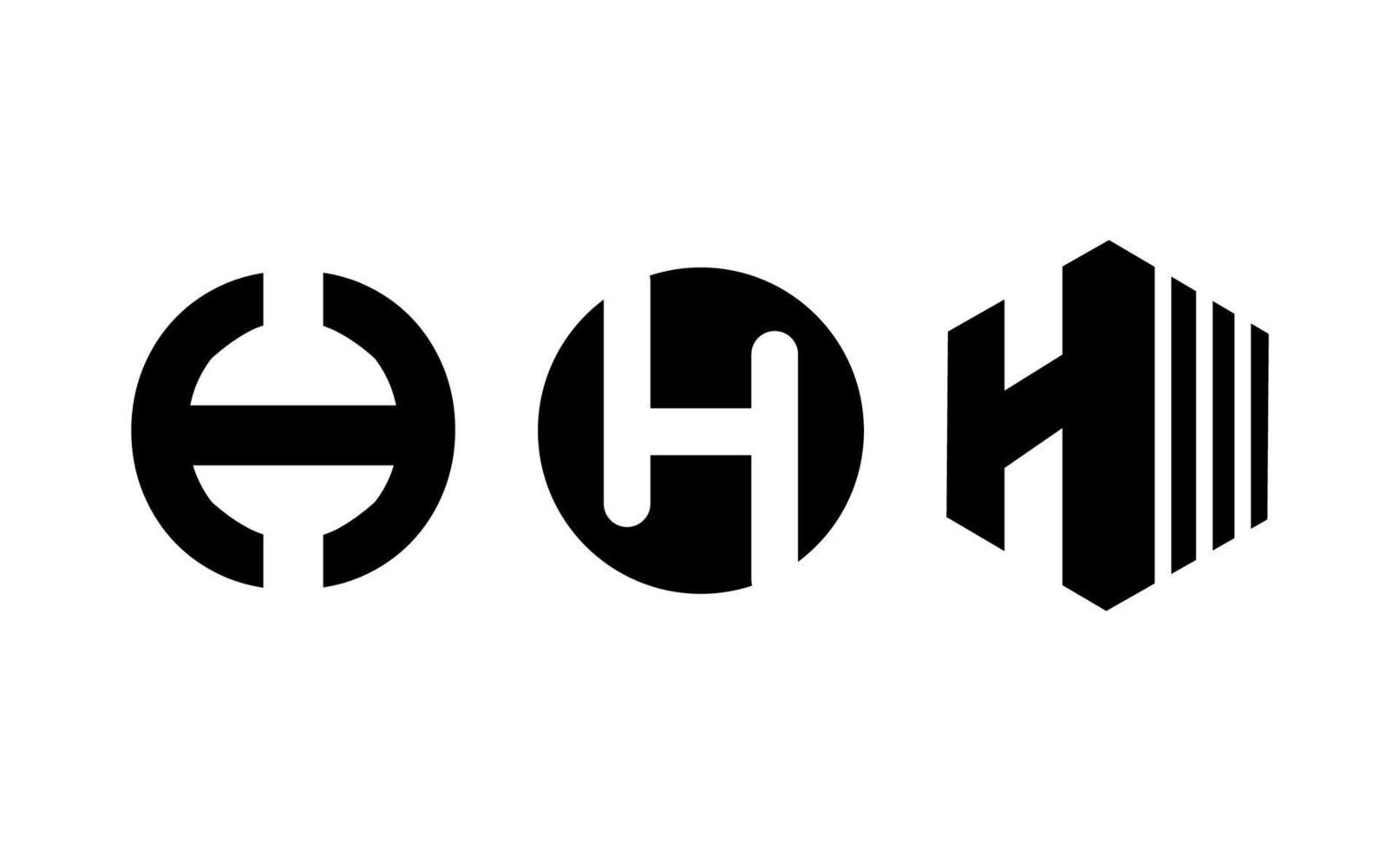 bokstaven initial h monogram logo design vektor