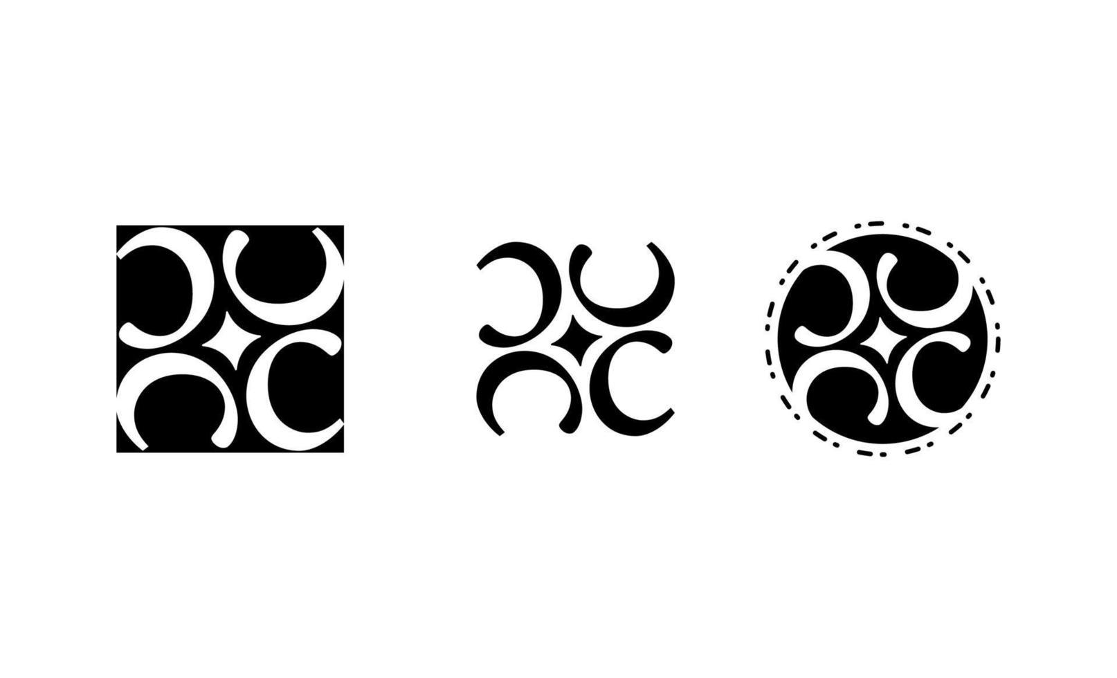 anfängliche c elegante Logo-Design-Vektorillustration vektor