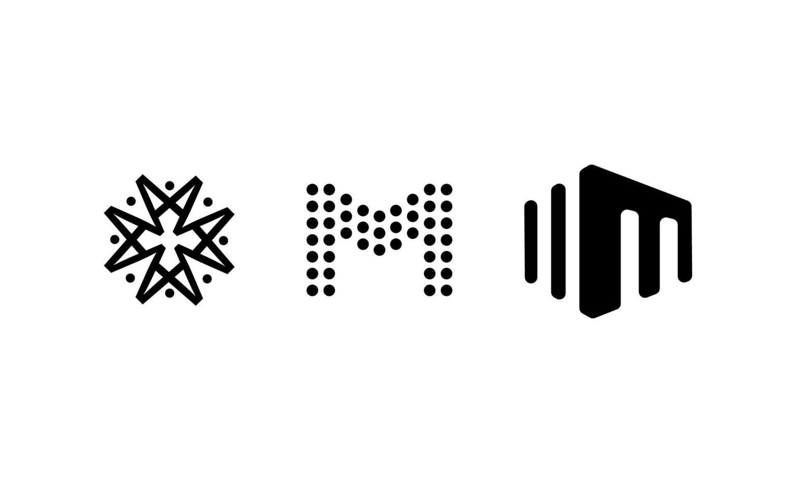 initial m logo mall design vektorillustration vektor