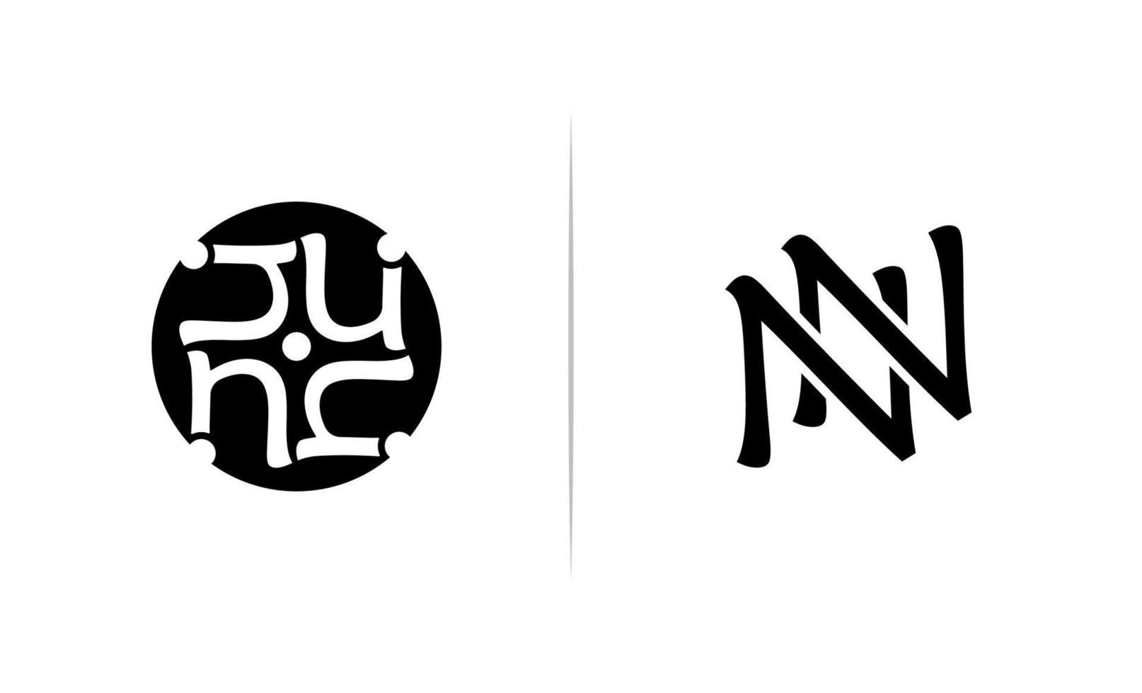 initial nn, n logo mall design vektor
