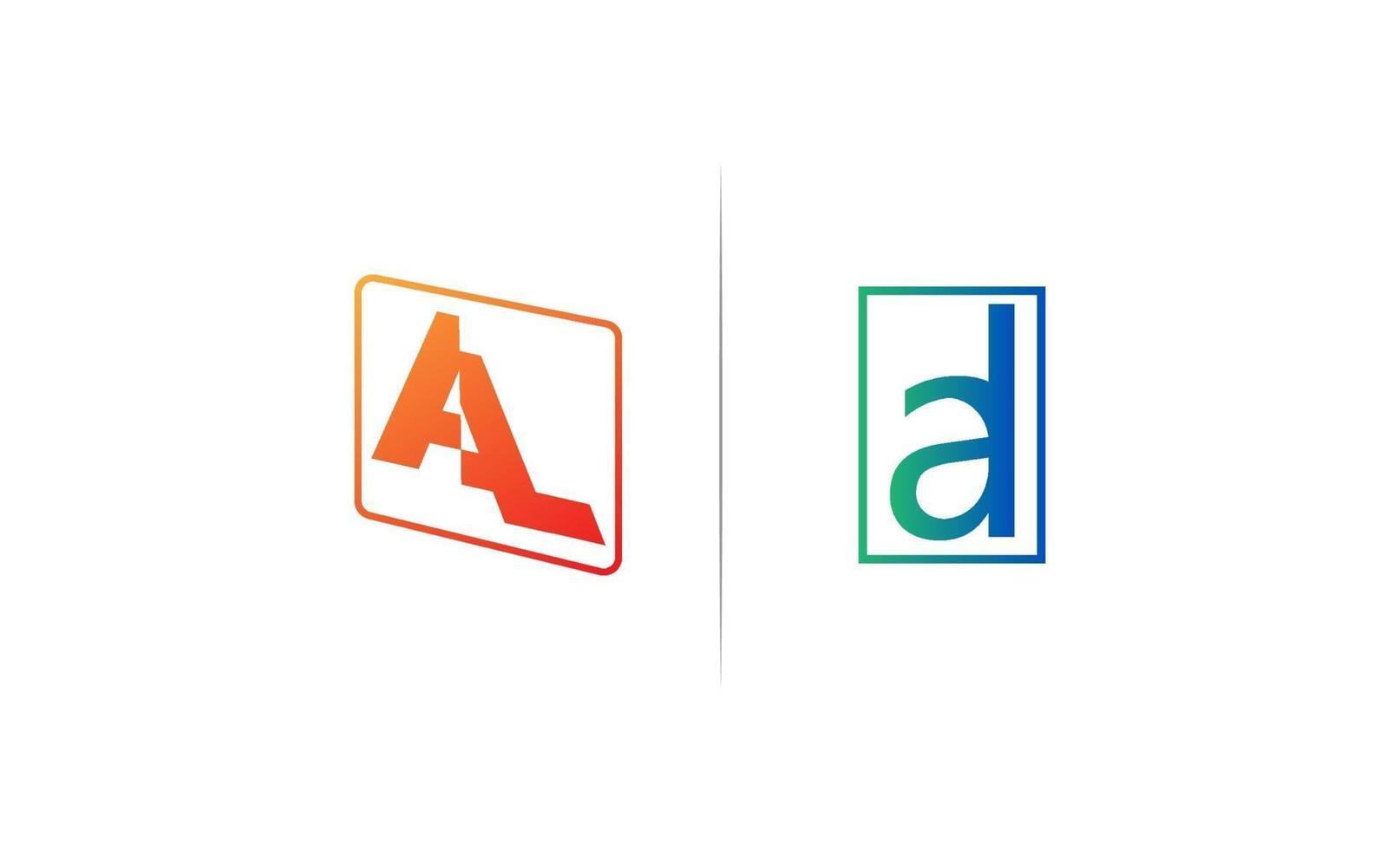 initial al logo design vektorillustration vektor