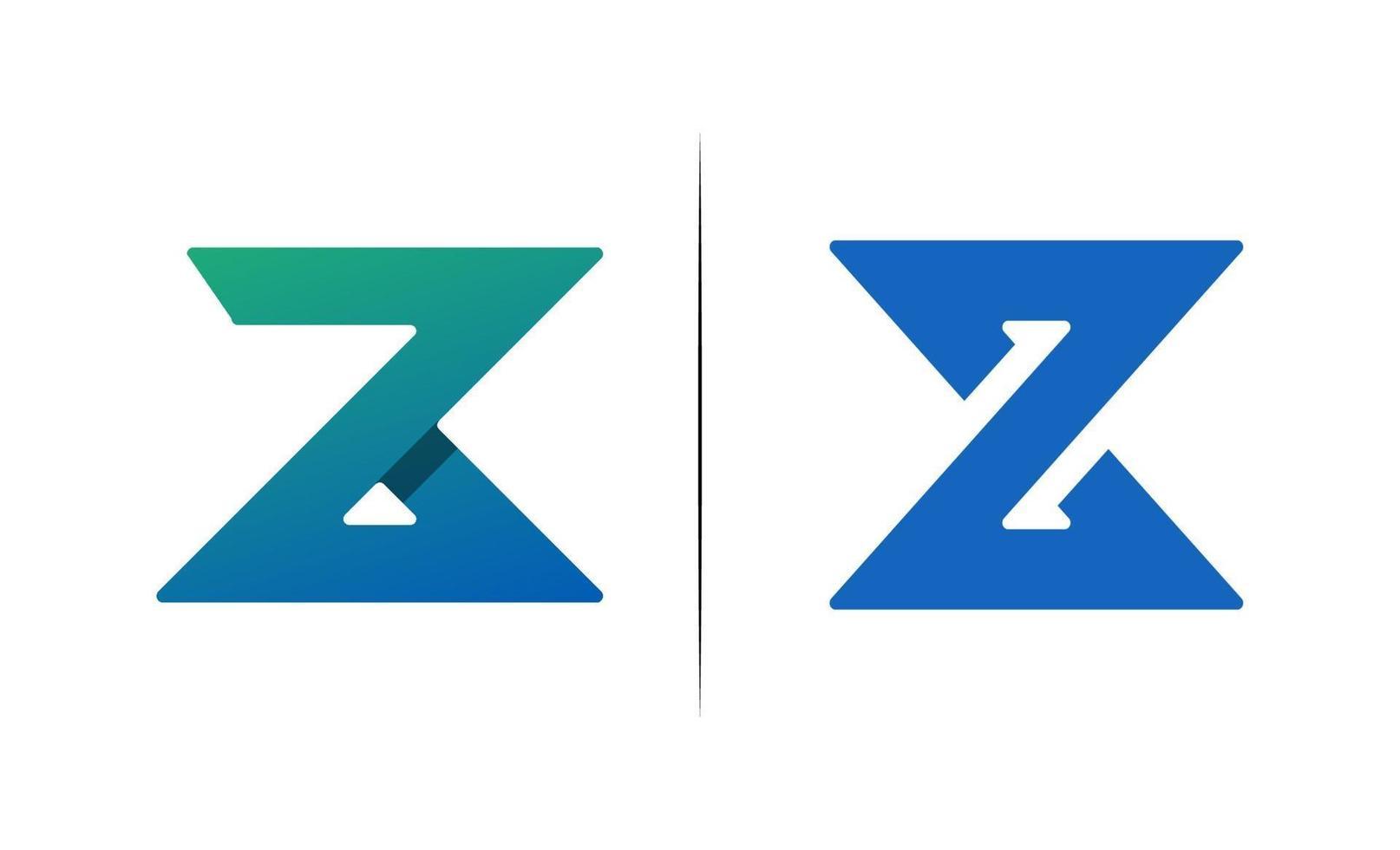 initial z kreativ design logotyp vektor