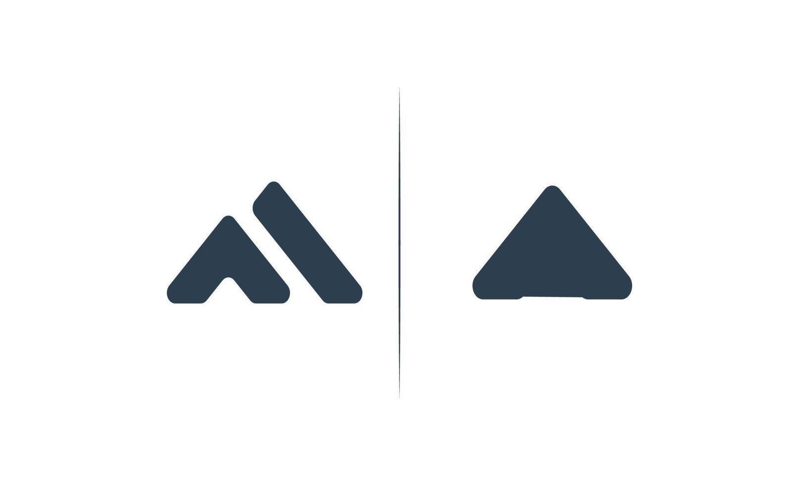 initialt en logo design mall vektor