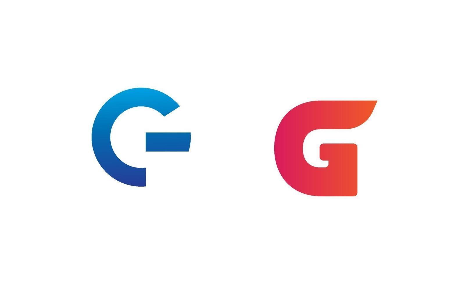 första g logo design vektor element isolerade