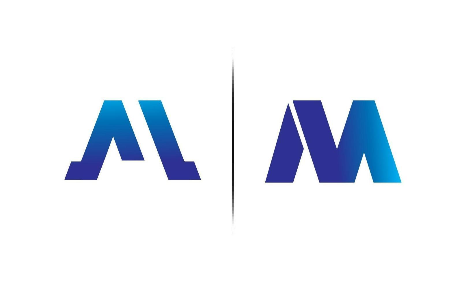 första bokstaven m monogram design logotyp enkel vektor