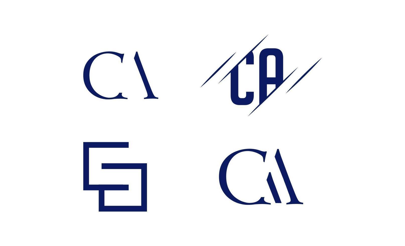 anfängliche Wechselstrom-, Ca-, A-, C-Logo-Schablonenvektorillustration vektor