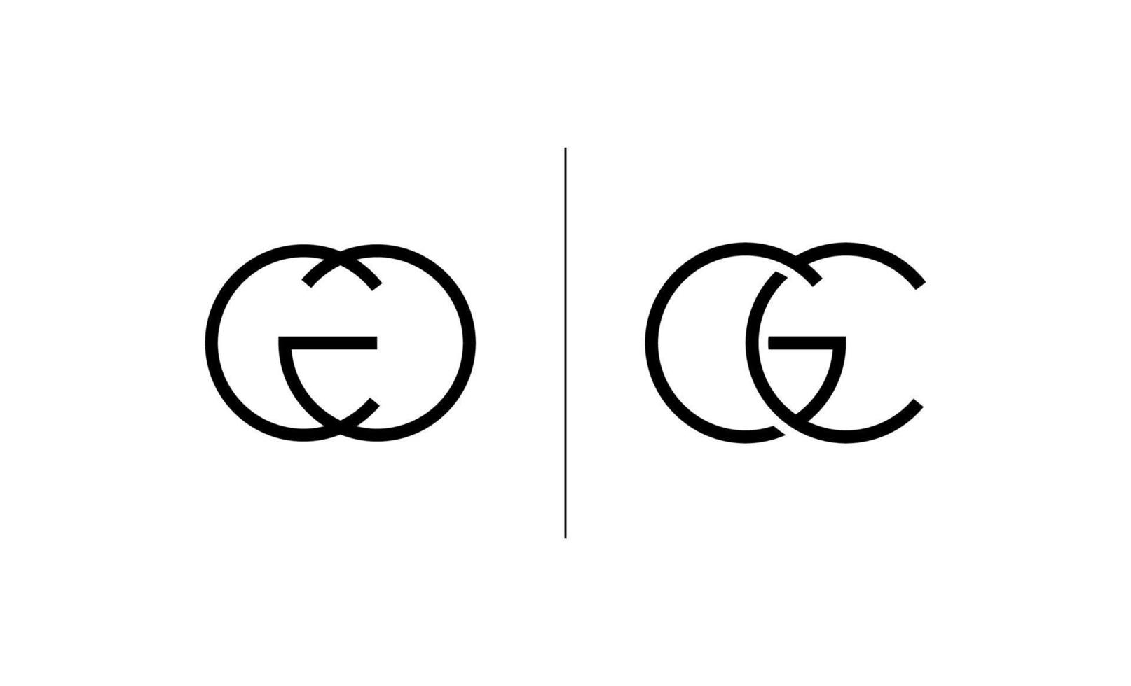 första cg, gc logotyp mall design vektor