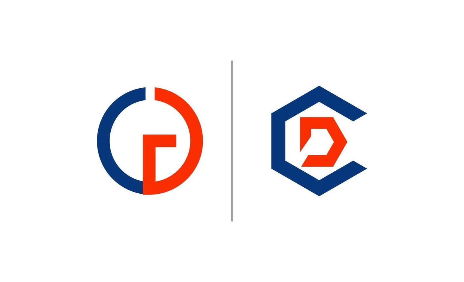 anfänglicher CD-Logo-Vorlagenentwurfsvektor vektor