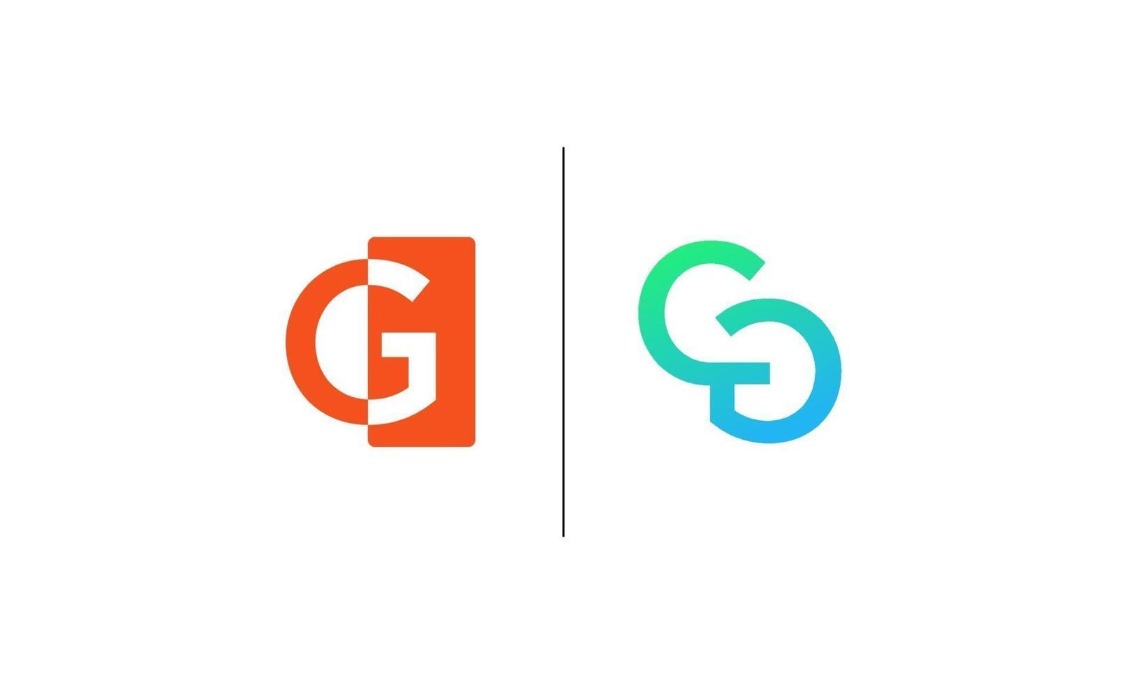 cg monogram initialer brev logotyp koncept vektor